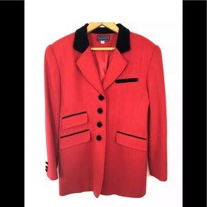 Charter Club Red Wool Blazer VINTAGE *